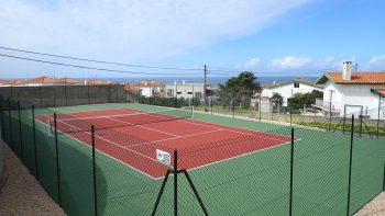het tennisplein